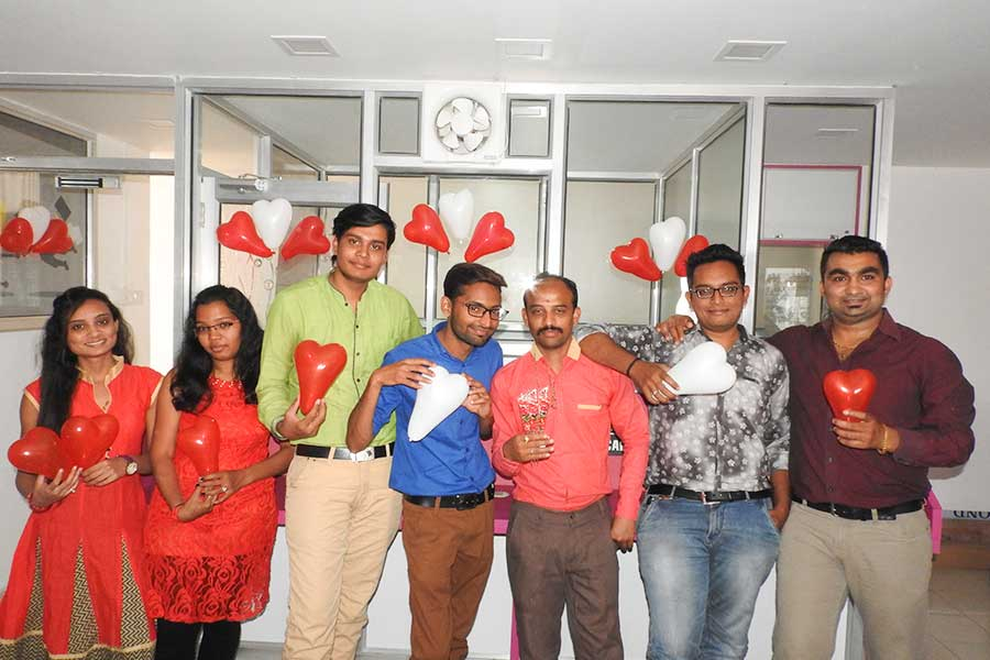 Valentine Day Celebration at Computer Classes