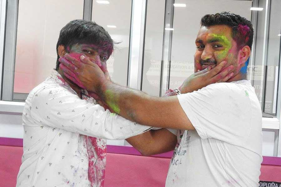 Holi Day Celebration in Computer Classes