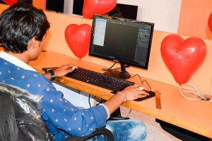 Valentine Day Celebration in Computer Classes