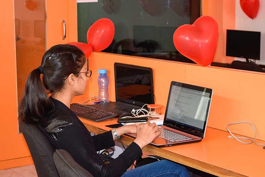 Valentine Day Celebration in Computer Classes